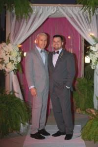 Avant-garde weddings & events, same sex wedding, real wedding, gay wedding, LGBT, San Diego Wedding, Southern California Wedding, Steel and heather grey allure suit with great gatsby bowtie 2