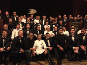Anaheim Ducks, Dux in Tux 2015, charity event, dress to impress, chef, orange county dining, hockey, sports, Anaheim ducks foundation, Anaheim Hilton, Ducks team and chefs
