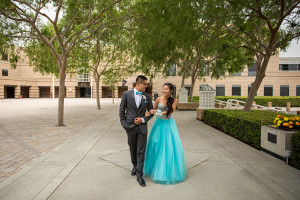 Turquoise Prom Couple