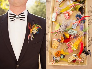 Whimsical Circus Theme Boutonniere