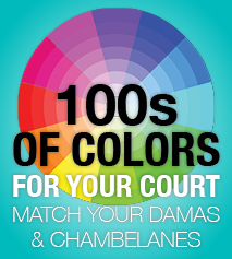 100s of tie colors for chambelans