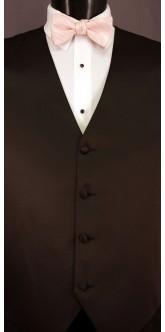 Blush Cravat Striped Bow Tie