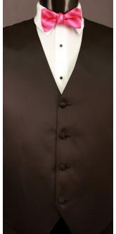 Fuchsia Cravat Striped Bow Tie