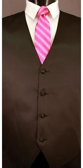 Fuchsia Cravat Striped Tie