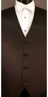 White Cravat Striped Bow Tie