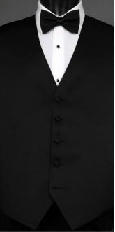 Black Savvi  Solid, Bow Tie
