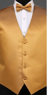 Gold Savvi Solid, Bow Tie