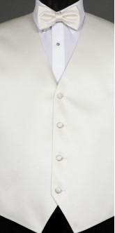Ivory Savvi Solid, Bow Tie