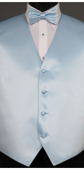 Light Blue Solid, Bow Tie