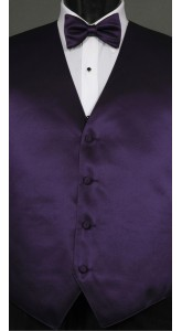 Purple Storm Solid, Bow Tie