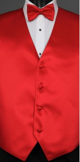 Red Savvi Solid, Bow Tie
