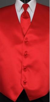 Red Savvi Solid, Solid Tie