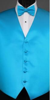 Turquoise Savvi Solid, Bow Tie