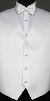 White Savvi Solid, Bow Tie