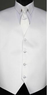 White Savvi Solid, Solid Tie