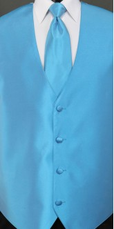 Marina Blue Sterling, Solid Tie