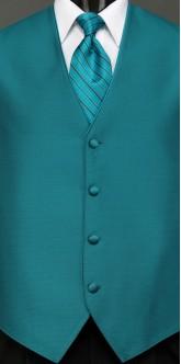 Teal Sterling, Striped Tie