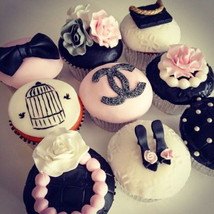 Chanel Theme Quinceanera Cupcakes