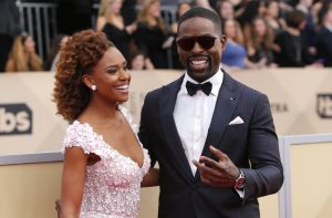 24th Screen Actors Guild Awards – Arrivals – Los Angeles, California, U.S., 21/01/2018 – Actors Ryan Michelle Bathe and Sterling K. Brown. REUTERS/Monica Almeida